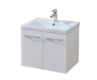Eden 600 Wall Hung White Unit & Basin-0