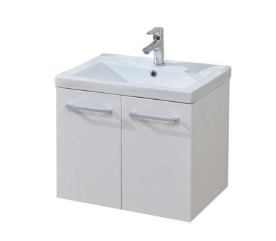 Eden 600 Wall Hung White Unit & Basin-0
