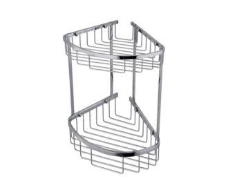 Wall Mounted Double Triangular Corner Basket-0