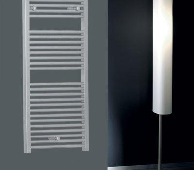 Roma Chrome Straight 25mm Bars Heated Towel Rail-0