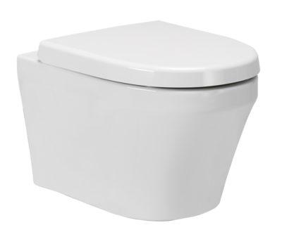 Kai Wall Hung Toilet Pan & Soft Close Seat-0