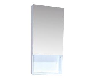 Quattro 400 Gloss Mirror Cabinet ( White or Anthracite)-0