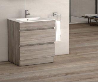 Vienna 800 2 Drawer Floor Unit Walnut -4276