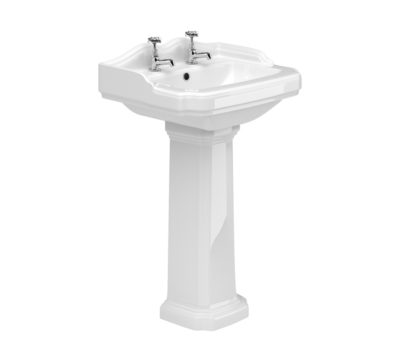 York 580mm Basin & Pedestal -0