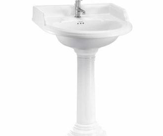 Burlington Classic 65cm round basin and regal round pedestal-0