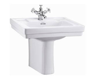Burlington Contemporary 57.5cm basin and semi pedestal -0