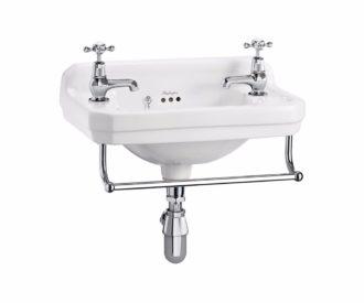 Burlington Edwardian 51 Cloakroom Basin & Towel Rail -0