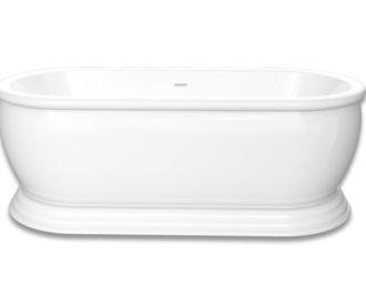 Brampton Freestanding Acrylic Bath c/w Click Clack Waste -0