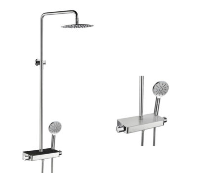 Console Shower Valve (Black or White)-0