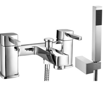 Cube Bath Shower Mixer & Kit -0
