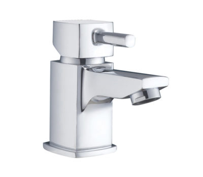 Cube Mini Basin Mono c/w Easy Clean Spring Waste -0