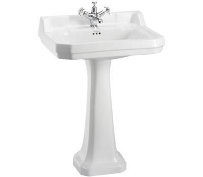 Burlington Edwardian 61cm basin and standard pedestal-0
