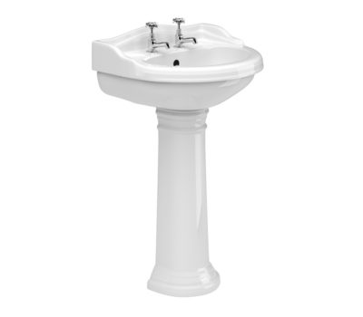 Kent 600mm Basin & Pedestal -0