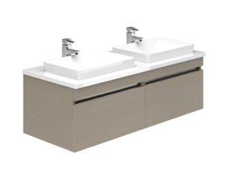Knightsbridge 1200 Double Basin Wall Unit -0