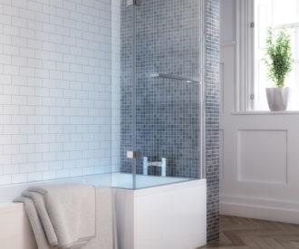 L Shape Shower Bath -759