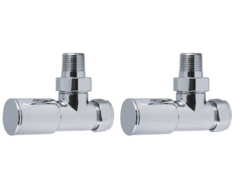 Round Angled Radiator Valves Chrome Pair -0