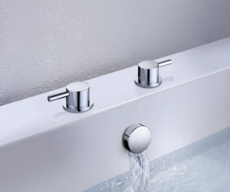 Titan Side Valves c/w Overflow Bath Filler & Easy Clean Spring Waste-0