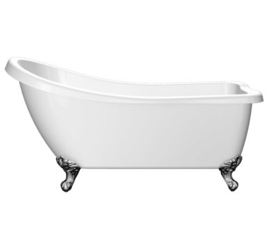 Traditional Slipper Freestanding Acrylic Bath & Feet-0