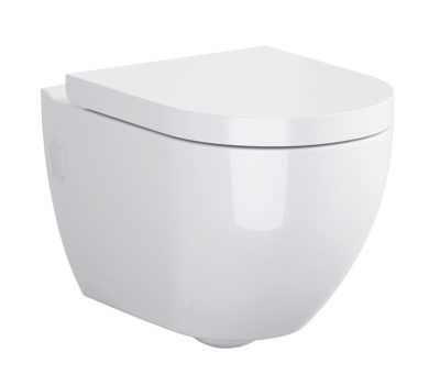 Urban Harmony CLEAN ON Wall Hung Toilet Pan & Soft Close Seat -0
