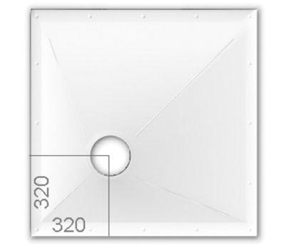 Wetroom Floor Former 1000 x 1000mm-0