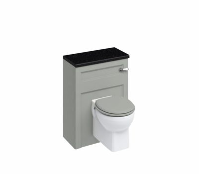 60 Wall Hung WC Unit with Lever Flush Cistern WC Unit Dark Olive -0