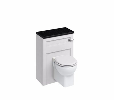 60 Wall Hung WC Unit with Lever Flush Cistern WC Unit Matt White -0