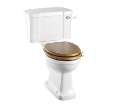 Rimless Standard Close Coupled Pan with 520 Lever Cistern-0