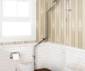 High Level Pan with High Level Cistern & High Level Angled Flush Pipe-0
