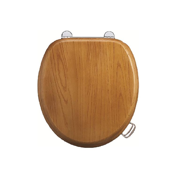 Wooden Oak Toilet Seat -0