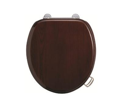 Gloss Mahogany Toilet Seat -0