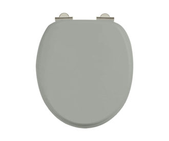 Chrome Soft Close Dark Olive Seat -0