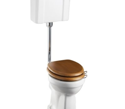 Low Level Pan with Slimline Lever Cistern and Low Level Flush Pipe Kit-0