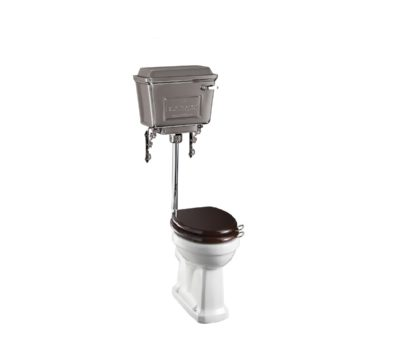 Standard Low Level WC with 440 Chrome Cistern & Flush Lever-0