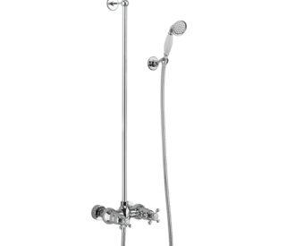 Eden Exposed Thermostatic Shower Valve & Swivel Shower Arm -0