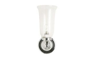 Burlington Round Light with Chrome Base & Clear Glass Vase Shade -0