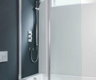 Design Double Bath Screen - Outward Opening -0