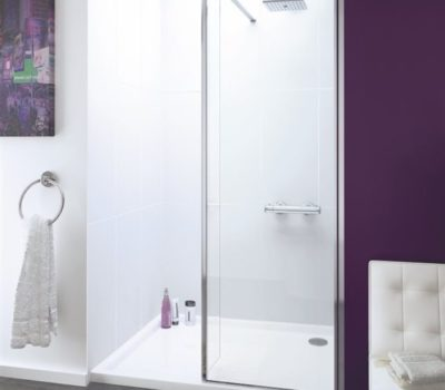 Levanzo Walk-In Shower Enclosure (Panel & Hinged ByPass Panel)-0