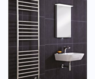 Athena Pre Filled Electric Radiator - Stainless Steel 350mm-0