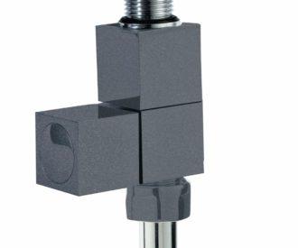 Square Straight Radiator Valve - Anthracite -0