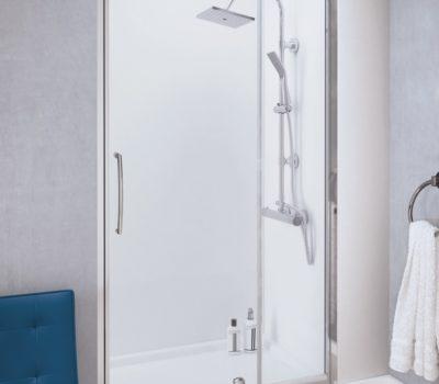 Pivot Door with Integrated In-Line Panel -0