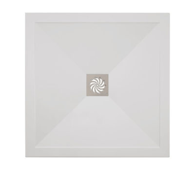 Square 25mm Stone Resin Shower Tray & Waste -0