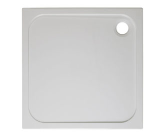 Square 45mm Stone Resin Shower Tray-0