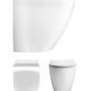 Svelte White Back To Wall WC & Soft Close Seat -0