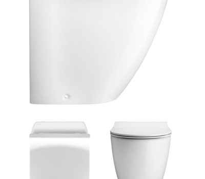 Svelte White Back To Wall WC & Soft Close Seat -0
