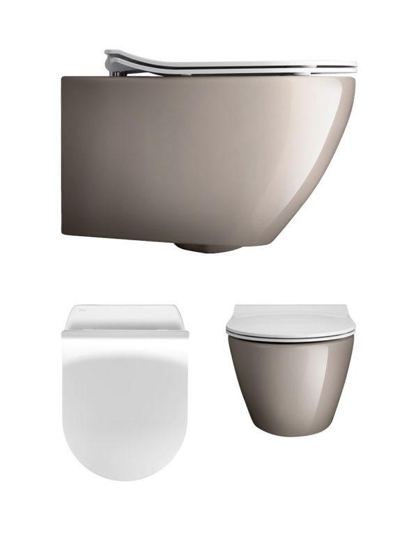 Svelte Platinum Wall Hung WC & Soft Close Seat -0