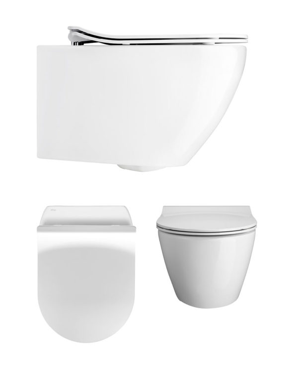 Svelte White Wall Hung WC & Soft Close Seat -0