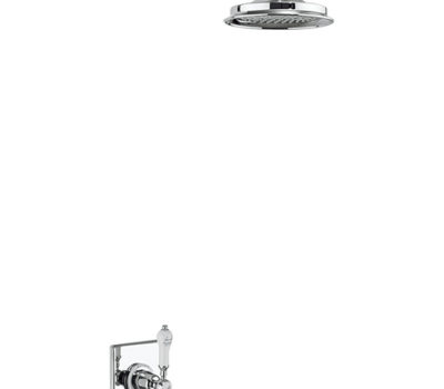 Trent Thermostatic Single Outlet Concealed Shower Valve with Fixed Shower Arm with 6 Inch Rose -0