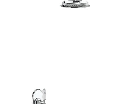 Severn Thermostatic Single Outlet Concealed Shower Valve with Fixed Shower Arm -0
