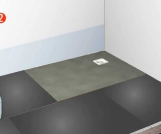 Baseboard Formed Wetroom Shower Tray 1200X900 Offset Drain-0