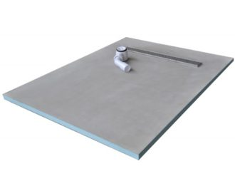 Baseboard Wetroom Tray with Linear Drain 1200X900-0